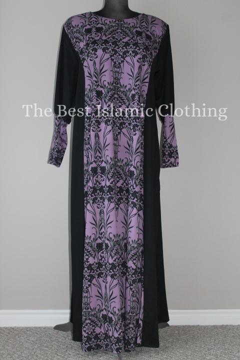abaya black printed