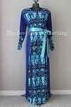 abaya blue printed
