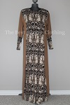 abaya brown printed
