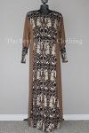 abaya brown printed