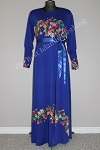 abaya floral diamente blue