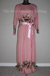 abaya floral diamente pink