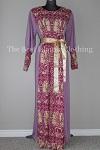abaya lilac printed