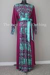 abaya magenta printed
