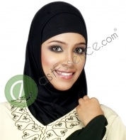 basic black hijab