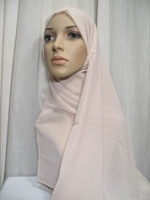 basic cream hijab