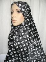 black print hijab
