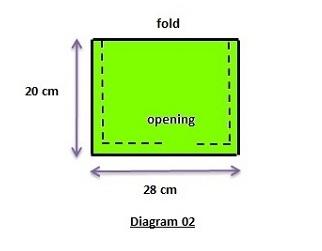 Bonnet style underscarf sewing pattern diagram 02