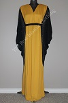 butterfly abaya yellow