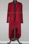 cardigan shawl maroon