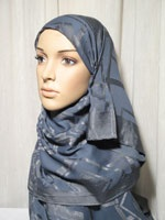 chic grey shawl hijab