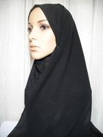 chiffon black hijab