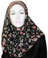 colourful floral square hijab
