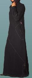 dark denim casual jilbab