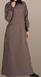 deep grey casual jilbab