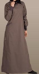 deep grey casual jilbab