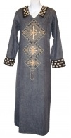 Denim Embroidered Abaya