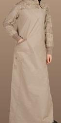 dusty beige casual jilbab