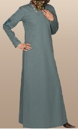 dusty blue casual jilbab