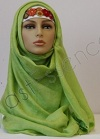 East Eastern Green Shayla Silk Blend Hijab