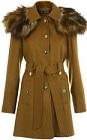 faux fur shoulder coat