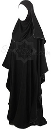 black satin full butterfly girl abaya
