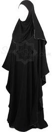 black satin full butterfly girl abaya