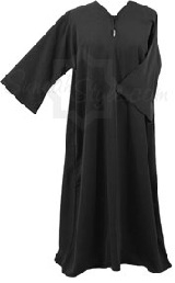 plain flair sleeve girl abaya