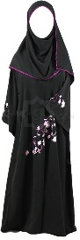 purple blossom girl abaya