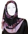 gorgeous black square hijab