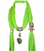 Green necklace scarf hijab
