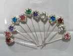 colorful diamente hijab pin set