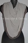 half moon 2-layers hijab