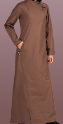 Iron brown casual jilbab