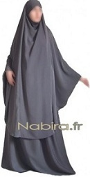 Khimar Suit With Flared Skirt