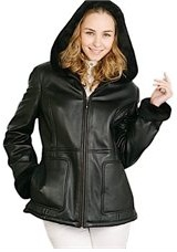 lambskin parka leather coat