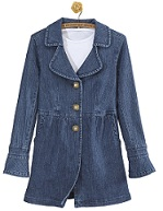 short denim coat