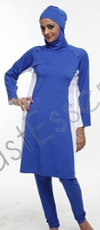 modest blue Islamic swimsuit