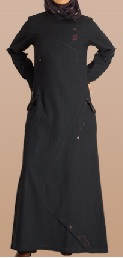 navy denim casual jilbab