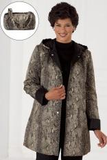 phyton print raincoat