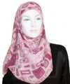 pink abstract square hijab