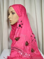pink beaded shawl