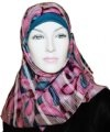 pink floral square hijab