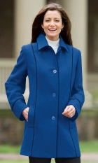 piped wool blend coat