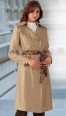 shantung textured trench coat