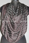 shawl dark brown imprint