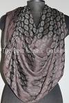 shawl dark brown imprint