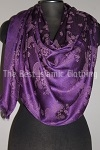 shawl purple imprint