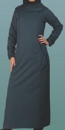 teal casual jilbab