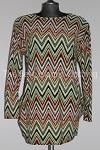 tunic zigzag print